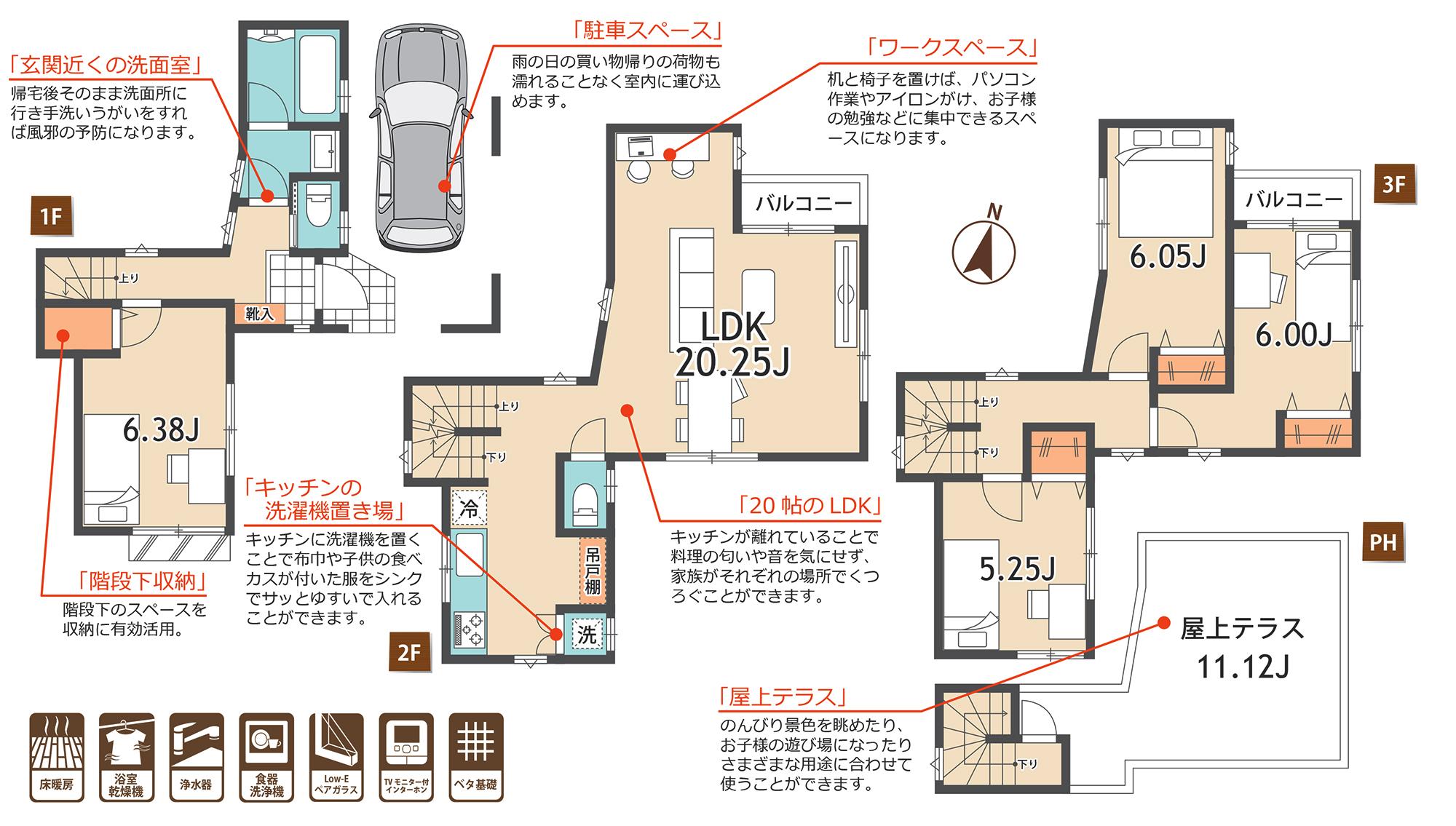 【媒介】新築一戸建   梅島5棟